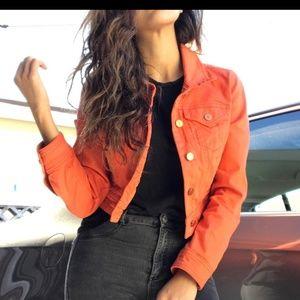 Anthropologie Pilcro Orange Cropped Jacket